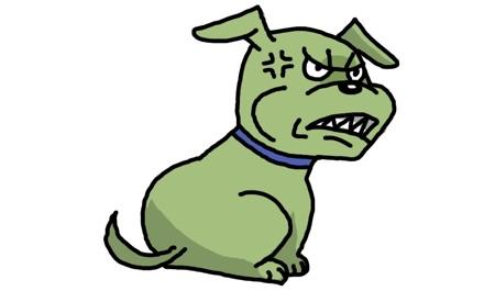 噛みつきそうな犬